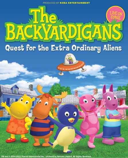 Backyardigans Purple Kangaroo : The Backyardigans Quest for the Extra Ordinary Aliens Family Pack of