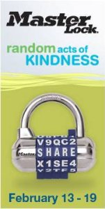 master lock random acts of kindness banner