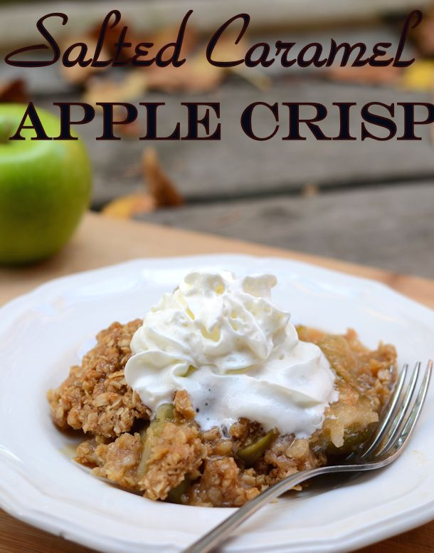 salted caramel apple crisp recipe