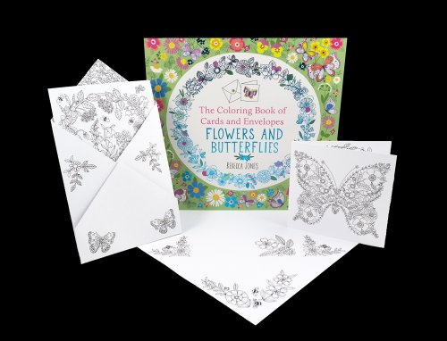 coloring book flowers and butterflies