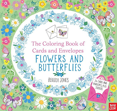 coloring bookd flowers butterflies