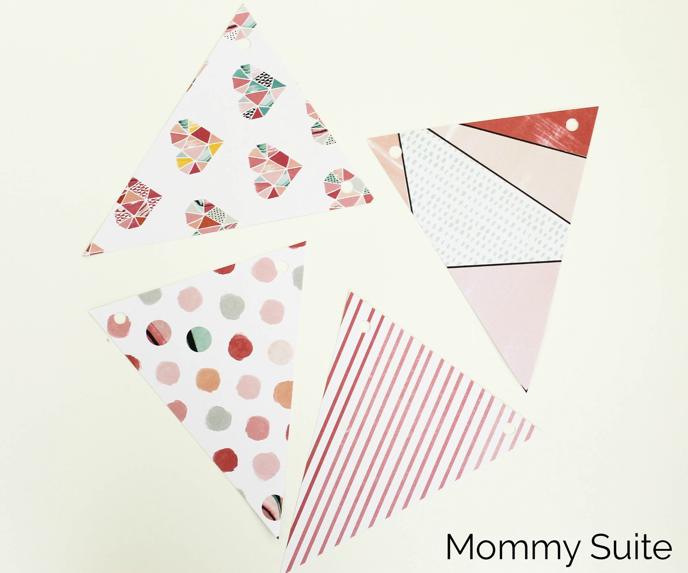 DIY Paper Pennant Banner (w/ Free Template) - Mommy Suite