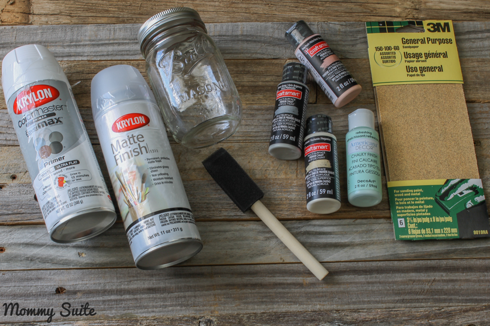 Materials To Paint Mason Jars