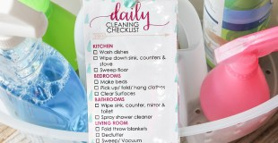 My Cleaning Routine + Free Printable Cleaning Checklists