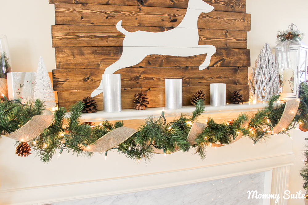 Rustic Glam Christmas Mantle| Mommy Suite