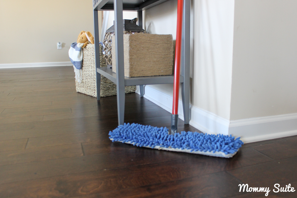 I Sweep The Kitchen/ Breakfast Area And Give The Living Room And Hallways A  Good Wipe Down With A Dust Mop, Daily. Because I Track A Lot Of Sawdust In  From ...