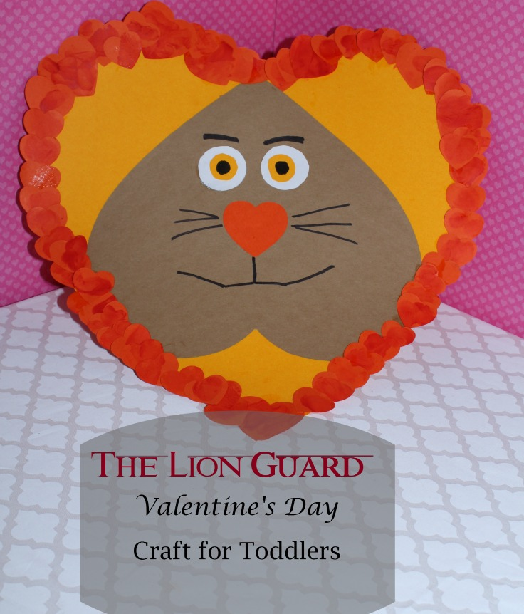 Lion Guard Craft for Valentine's Day