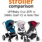 Nuna Mixx vs Stokke Scoot V2 vs 2015 UPPAbaby Cruz Stroller Comparison