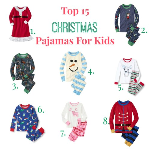 Medium Of Kids Christmas Pajamas