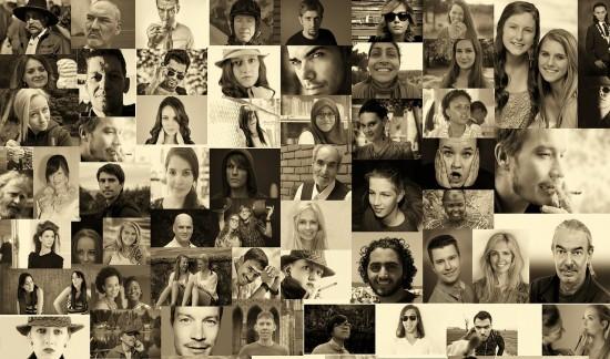 Fotos con gente de diversas etnias y grupos