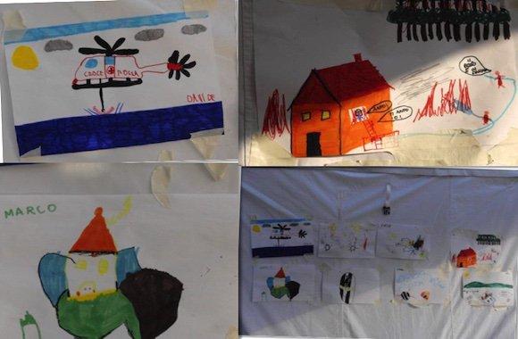Il trauma del terremoto nei disegni dei bambini