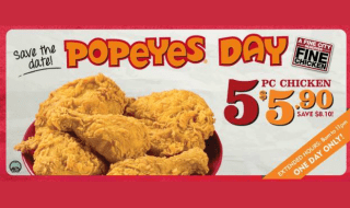 Popeyes day 5 Jun