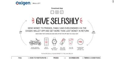 Give selfishly Oxigen wallet