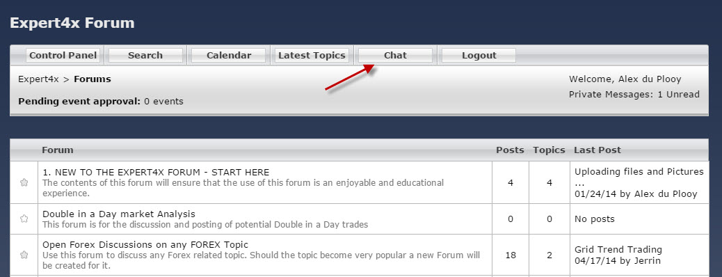 Forex live chat room