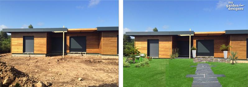 am nager un jardin contemporain les r gles monjardin. Black Bedroom Furniture Sets. Home Design Ideas