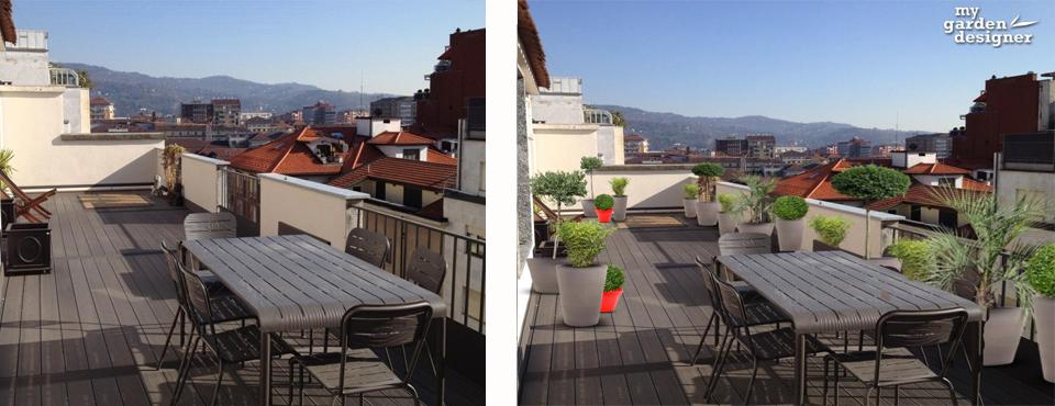 Cr ation terrasse contemporain monjardin for Amenagement terrasse contemporaine