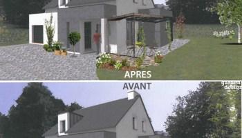 Aménagement du jardin de l\'entrée d\'une maison contemporaine ...