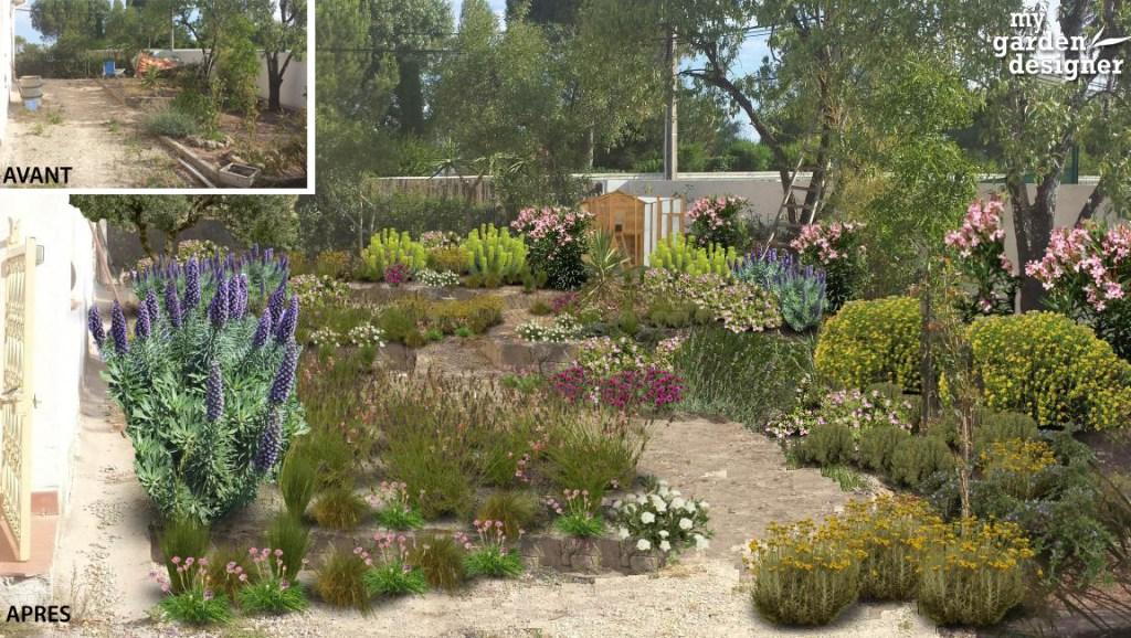 Terrain en pente monjardin - Amenager une allee de jardin ...