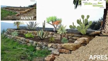 Aménagement d\'un terrain en pente | monjardin-materrasse.com