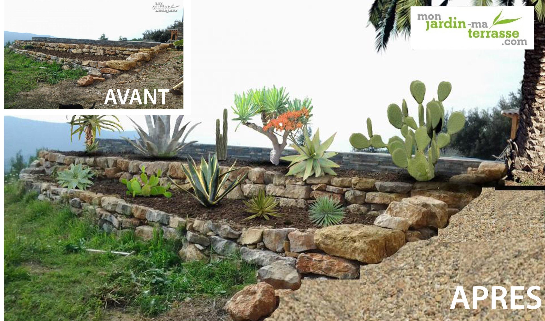 Am nagement d une rocaille en pente exotique monjardin - Idee deco jardin en pente ...