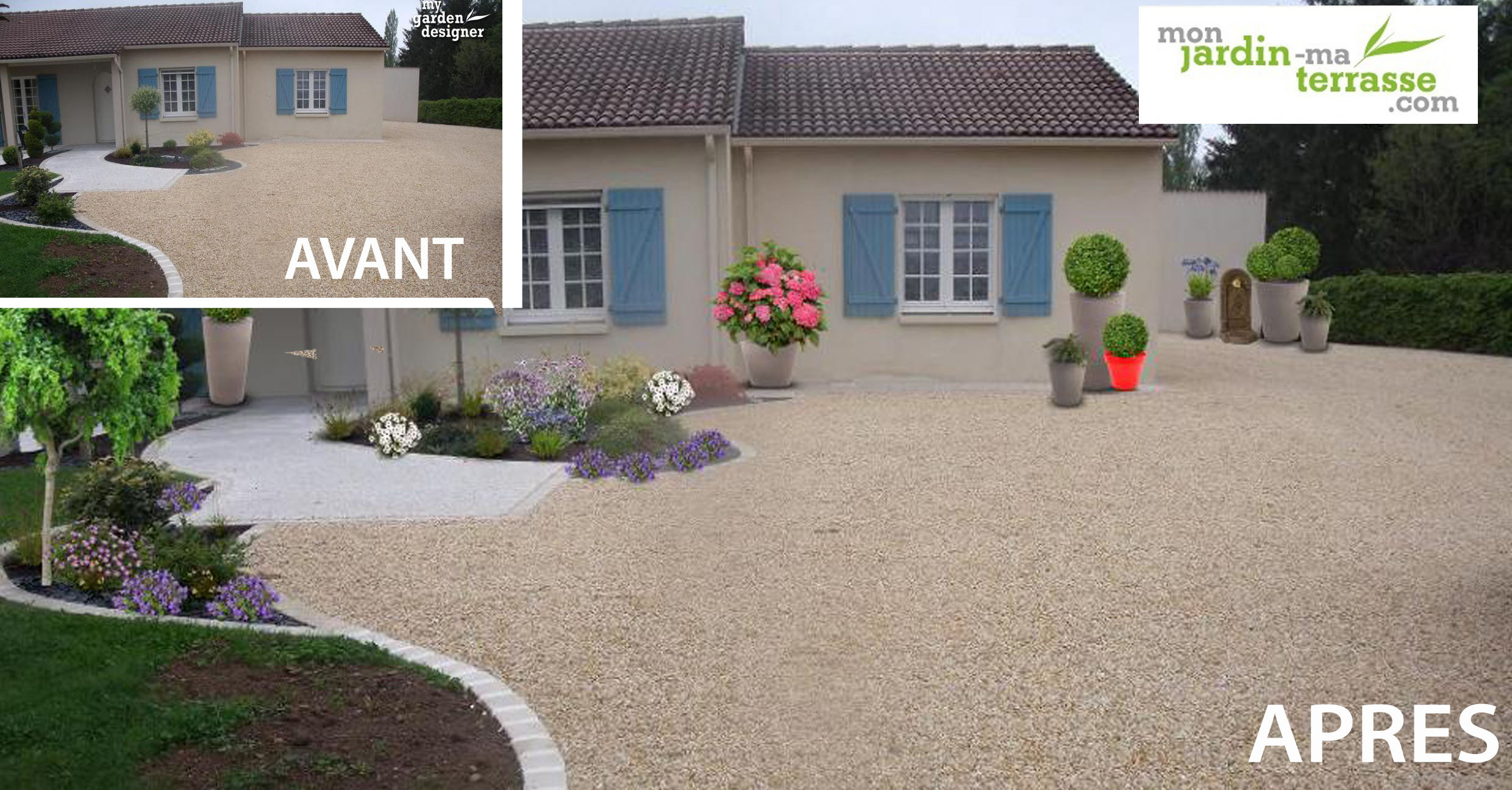 Id e d am nagement d une entr e de maison monjardin for Amenagement jardin devant maison