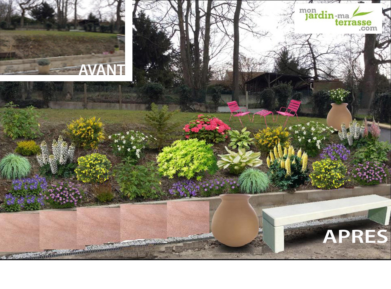 Amenager un talus sans entretien garden amenager un talus avec des pierres jardin en pente - Jardin d agrement sans entretien ...