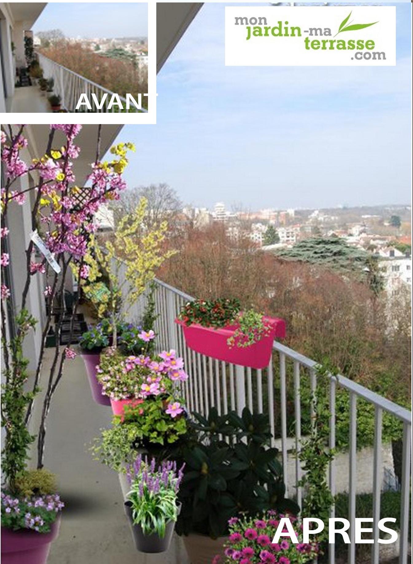 am nagement d un balcon tout en longueur monjardin. Black Bedroom Furniture Sets. Home Design Ideas