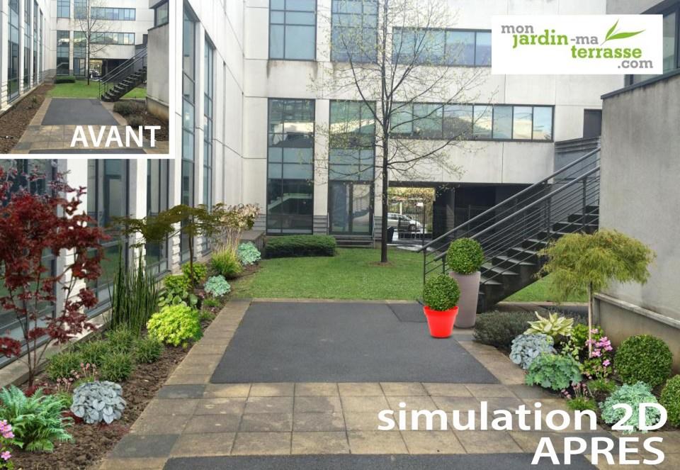 Am nager une cour d immeuble de bureau monjardin - Amenager une terras ...