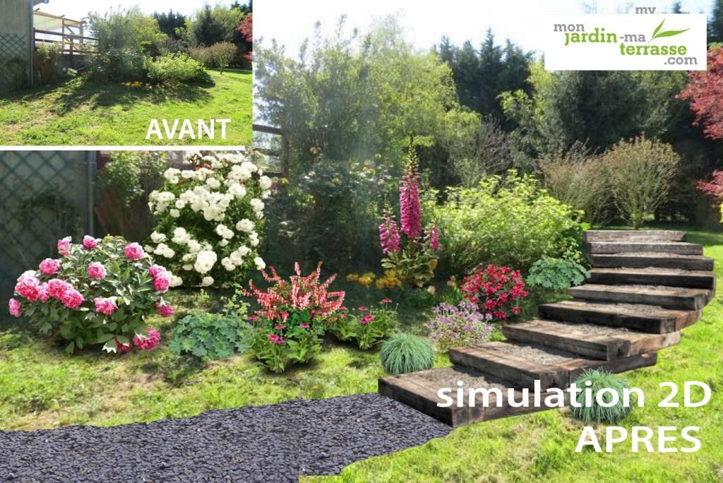 créer escalier jardin