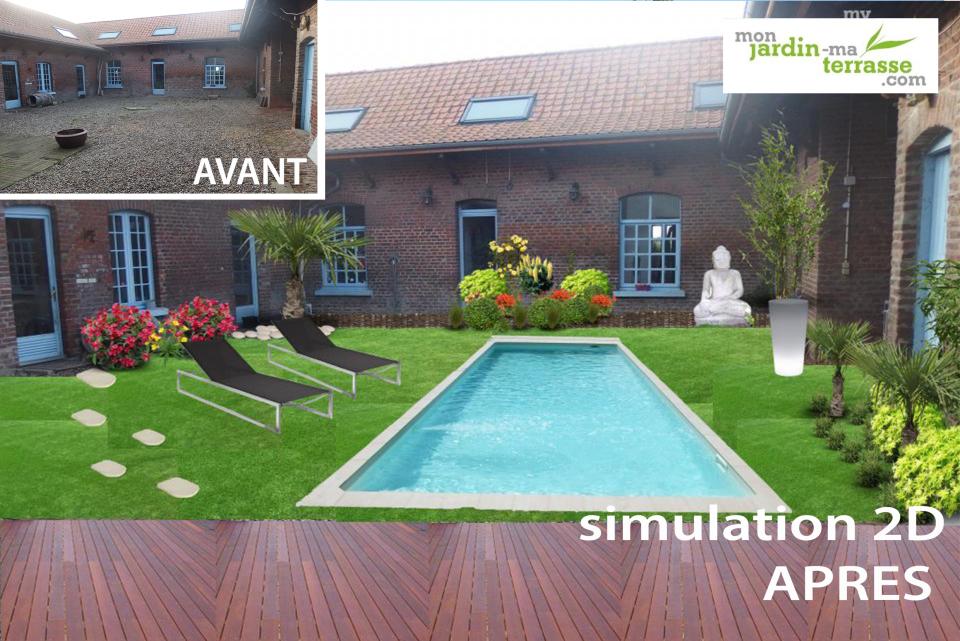 Aménager une piscine dans une cour | monjardin-materrasse.com