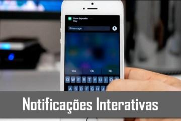 Notoficações interativas