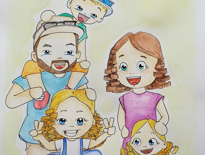 Commande – Portrait de famille A4