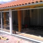 cerramientos de aluminio con panel teja
