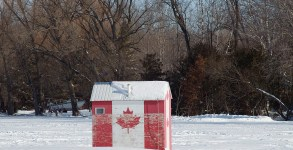 canadian-flag-ice-fishing-shack