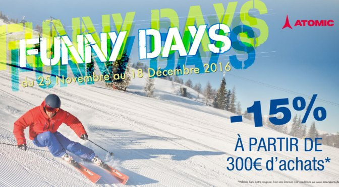 Funny Days Atomic : skis, chaussures, bâtons