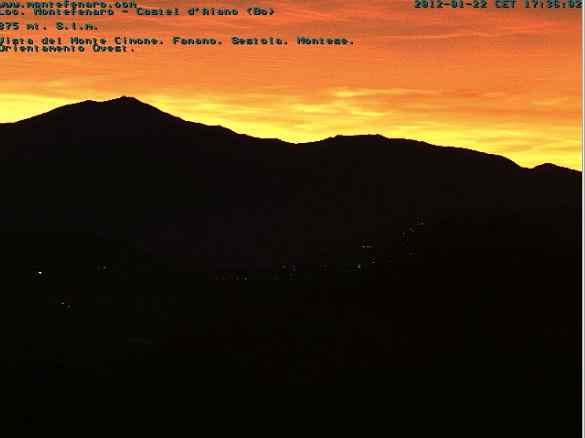 Webcam Montefenaro Castel d'Aiano