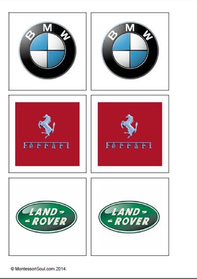 Vehicle Logo (Matching cards)
