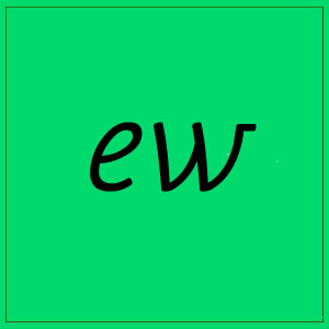 ew sound with letters