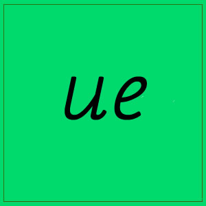 ue sound with letters