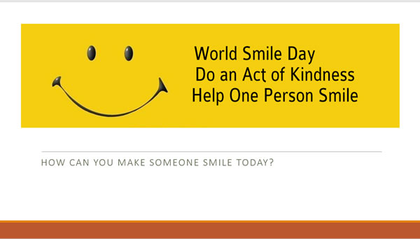 World Smile Day assembly / Lesson presentation