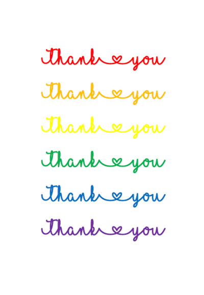 Thank you cards - English