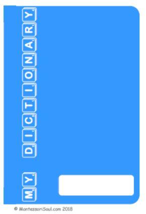 Personal Dictionary - Light Blue