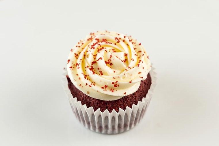 El delicioso cupcake de Red velvet