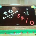 saio schoolbord taart met ganache en botercreme