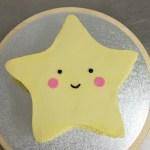 3d ster taart geel
