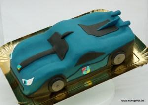 Rox taart 3D auto blauw