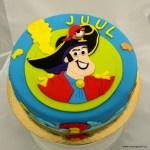 Piet Piraat taart juul 2 fondant