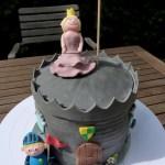 versierde taart themataart ridder en prinses toren