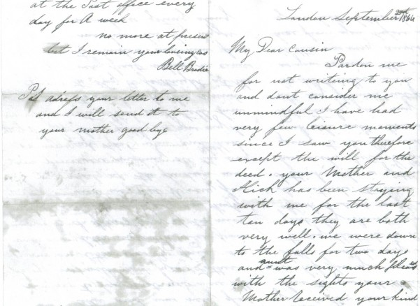 Bell Brodie Letter 1st and 4th pages
