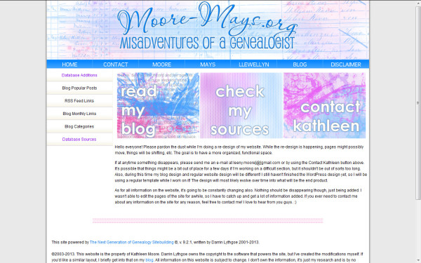 screen cap of new website design